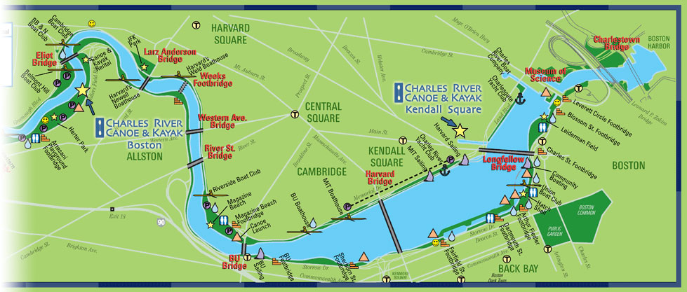 Paddle Boston - Charles River Canoe & Kayak :: Sales, Rentals, Trips on western pacific map, netflix map, cricket map,