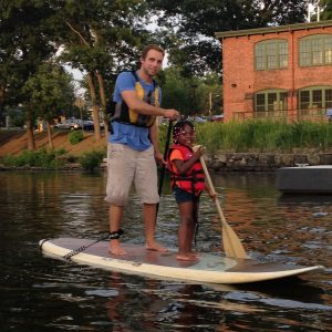 Paddling with kids