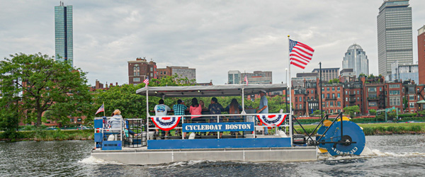 Cycleboat tours of the boston harbor